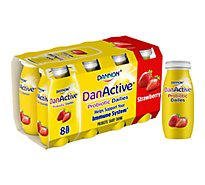 Dannon DanActive Probiotic Drink Dairy Strawberry Family Size 8-Pack - 8-3.1 Fl. Oz.