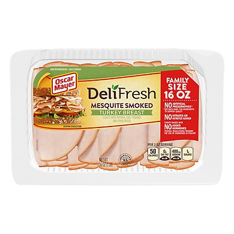 Oscar Mayer Deli Fresh Turkey Breast Mesquite Family Size - 16 Oz