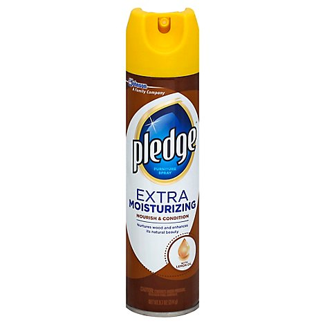 Pledge Furniture Spray Extra Moisturizing With Lemon Oil - 9.7 Oz