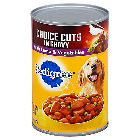 Pedigree Choice Cuts Dog Food In Gravy Wet For Adult Lamb & Vegetable - 22 Oz