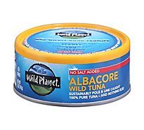 Wild Planet Tuna Albacore Wild No Salt Added - 5 Oz