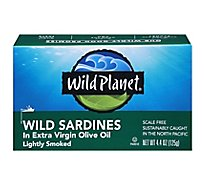 Wild Planet Sardines Wild Lightly Smoked in Extra Virgin Olive Oil Box - 4.4 Oz