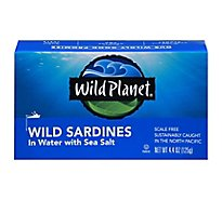 Wild Planet Wild Sardines In Water With Sea Salt - 4.4 Oz