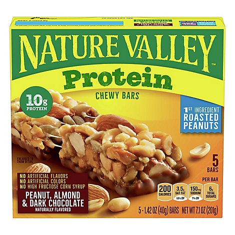 Nature Valley Protein Bars Chewy Peanut Almond & Dark Chocolate - 7.1 Oz