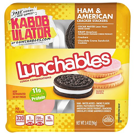 Lunchables Lunch Combinations Cracker Stackers Ham & American - 3.4 Oz