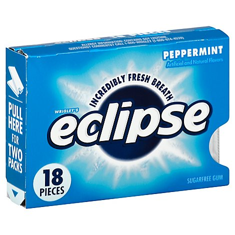 Eclipse Gum Sugarfree Peppermint - 18 Count