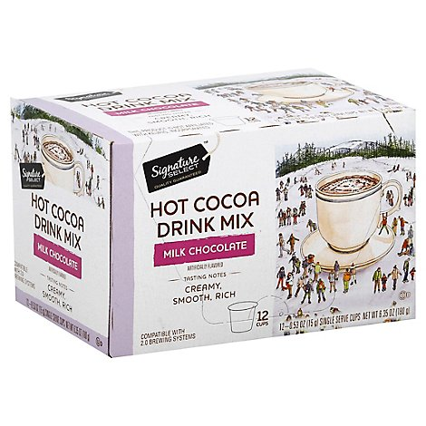 Signature SELECT Cocoa Hot Pods Milk Chocolate - 12-0.53 Oz