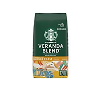Starbucks Coffee Arabica Ground Blonde Veranda Blend - 12 Oz