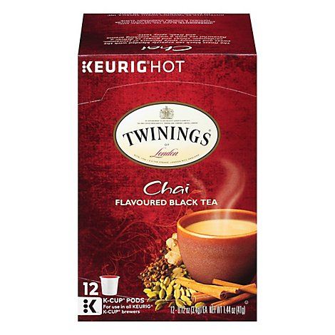 Twinings of London Black Tea K-Cup Pods Chai - 12-0.12 Oz