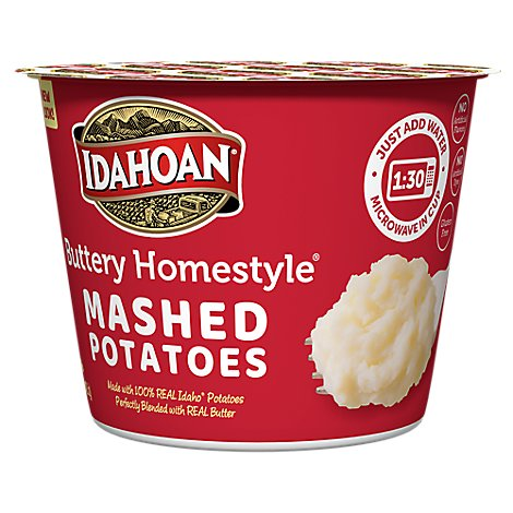 Idahoan Potatoes Mashed Buttery Homestyle Cup - 1.5 Oz
