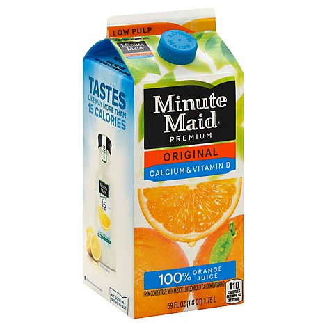 Minute Maid Juice Orange Original Calcium & Vitamin D Carton - 59 Fl. Oz.