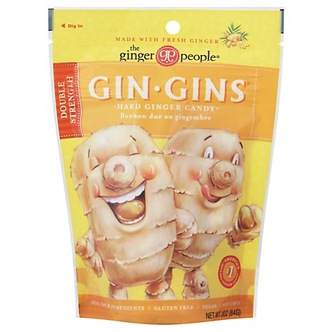 Ginger People Gin-Gins Candies Ginger Hard - 3 Oz