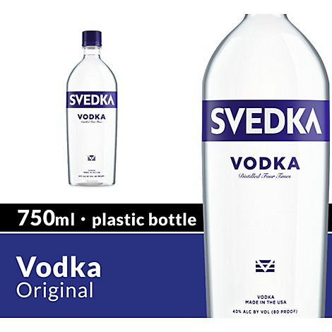 SVEDKA Vodka 80 Proof - 750 Ml