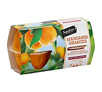 Signature SELECT Mandarin Oranges No Sugar Added Cups - 4-4 Oz