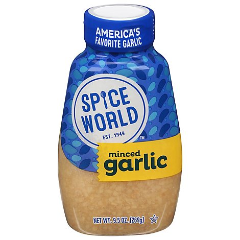 Spice World Garlic Minced Squeeze - 9.5 Oz