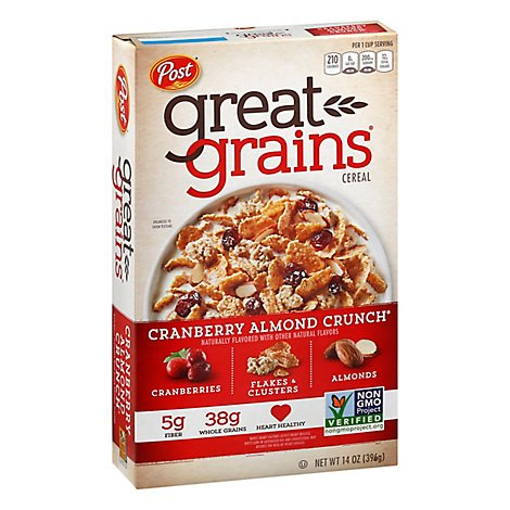 Great Grains Cereal Whole Grain Cranberry Almond Crunch - 14 Oz