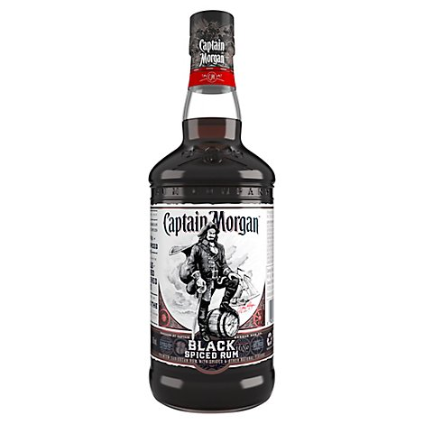 Captain Morgan Rum Spiced Black 94.6 Proof - 750 Ml
