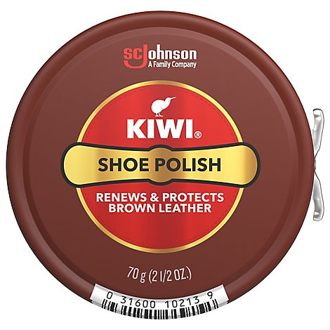 Kiwi Shines Nourishes & Protects Brown Shoe Polish - 2.5 Oz