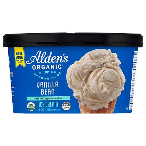 Aldens Ice Cream Vanilla Bean - 48 Oz