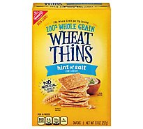 Wheat Thins Crackers Snacks Low Sodium Hint Of Salt - 9.1 Oz