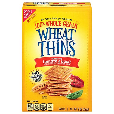 Wheat Thins Snacks Sundried Tomato & Basil - 9 Oz