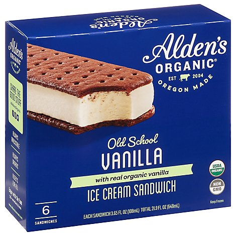Julies Ice Cream Sandwich - 6-3Oz
