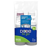 Dixie Cups & Lid To Go 12 Ounce - 26 Count