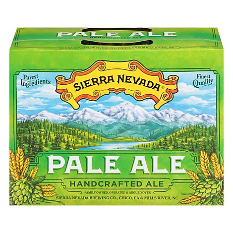 Sierra Nevada Beer Pale Ale Handcrafted Ale Cans - 12-12 Fl. Oz.