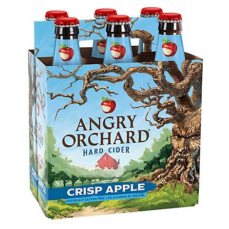 Angry Orchard Hard Cider Crisp Apple Bottles - 6-12 Fl. Oz.