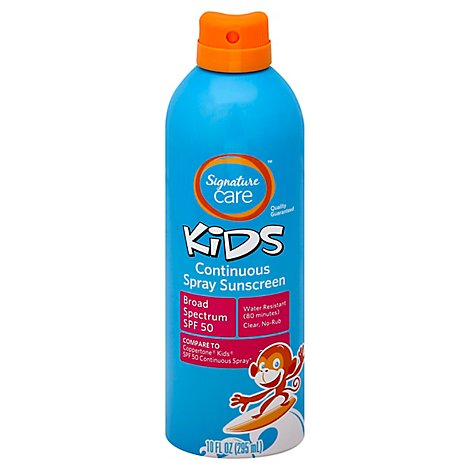 Signature Care Kids Sunscreen Continuous Spray Water Resistant SPF 50 - 10 Fl. Oz.