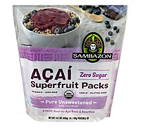 Sambazon Organic Superfruit Packs Pure Unsweetened Blend Acai - 4-3.5 Oz