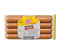 Oscar Mayer Selects Beef Franks Smoked Uncured Angus Bun Length - 14 Oz