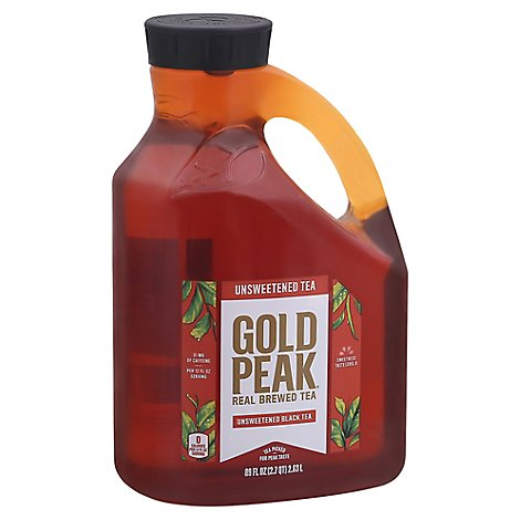 Gold Peak Tea Black Tea Unsweetened - 89 Fl. Oz.