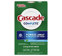 Cascade Complete Dishwasher Detergent Powder Fresh Scent - 75 Oz