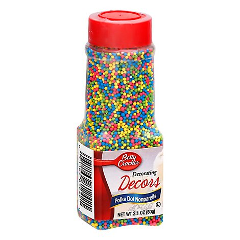 Betty Crocker Decorating Decors Polka Dot Nonpareils - 2.1 Oz