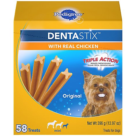 PEDIGREE DentaStix Dog Treats Original Small Box 58 Count - 13.97 Oz