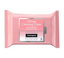 Neutrogena Oil-Free Cleansing Wipes Pink Grapefruit - 25 Count