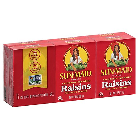 Sun-Maid Raisins Natural California - 6-1 Oz
