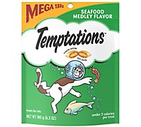 TEMPTATIONS Classic Cat Treats Crunchy And Soft Seafood Medley Flavor - 6.3 Oz