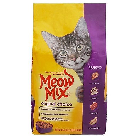 Meow Mix Cat Food Dry Original Choice - 3.15 Lb