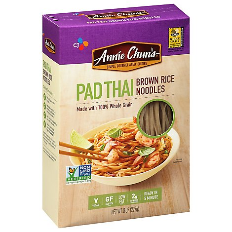 Annie Chuns Rice Noodles Brown Pad Thai All Natural - 8 Piece