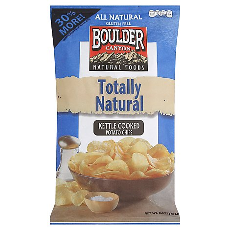 Boulder Canyon Authentic Foods Potato Chips Kettle Cooked Totally Natural - 6.5 Oz