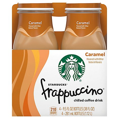 Starbucks frappuccino Coffee Drink Chilled Caramel - 4-9.5 Fl. Oz.