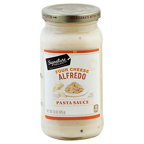 Signature SELECT Pasta Sauce Four Cheese Alfredo Jar - 15 Oz
