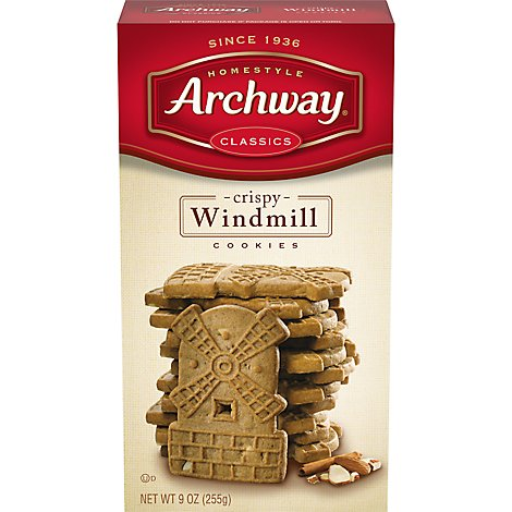 Archway Homestyle Classics Cookies Crispy Windmill - 9 Oz