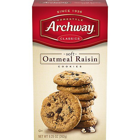 Archway Homestyle Classics Cookies Soft Oatmeal Raisin - 9.25 Oz