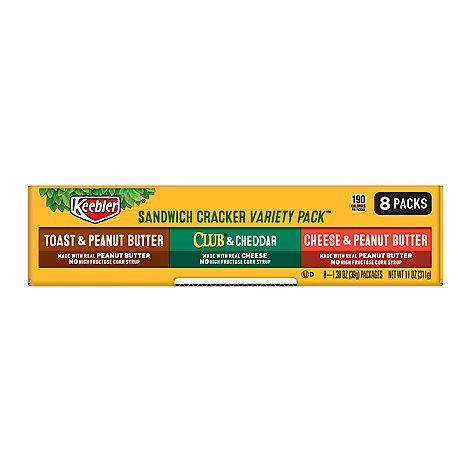 Keebler Crackers Sandwich Variety Pack Box - 8-1.38 Oz