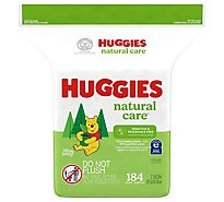 Huggies Natural Care Wipes Fragrance Free Refill - 184 Count