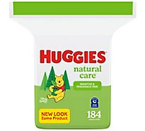 Huggies Natural Care Baby Wipes Sensitive Unscented Refill - 184 Count