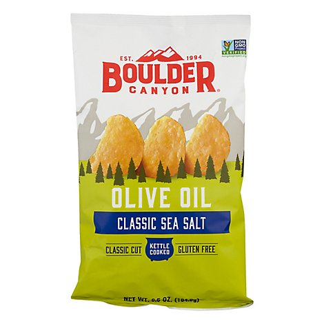 Boulder Canyon Potato Chips Kettle Cooked Olive Oil Sea Salt - 6.5 Oz